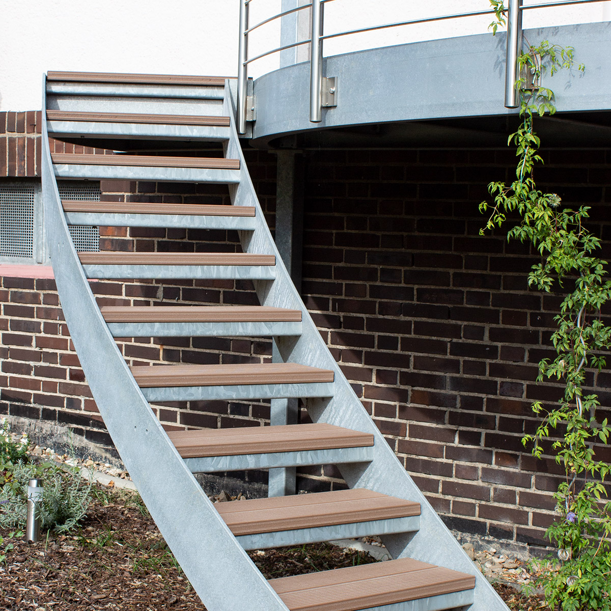 KS-Stahltechnik Referenz Balkon Treppe