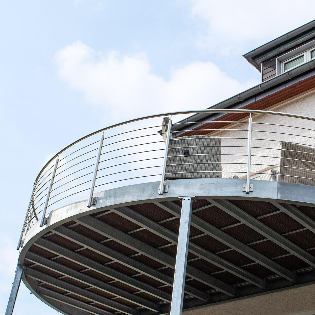 KS-Stahltechnik Referenz Balkon Unterkonstruktion