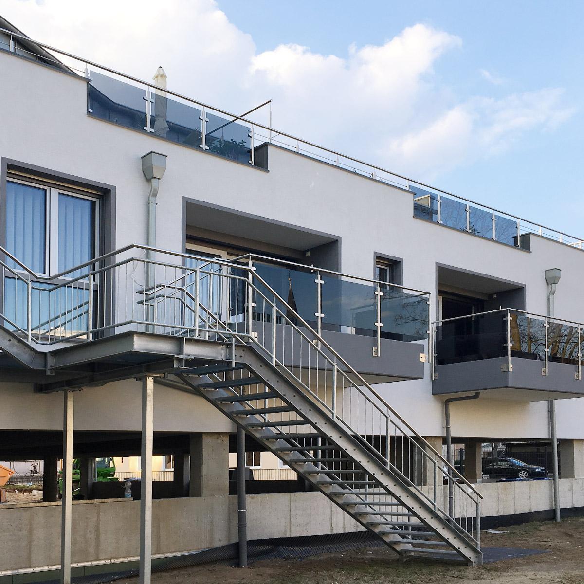 KS-Stahltechnik Referenz Balkon Treppe gerade